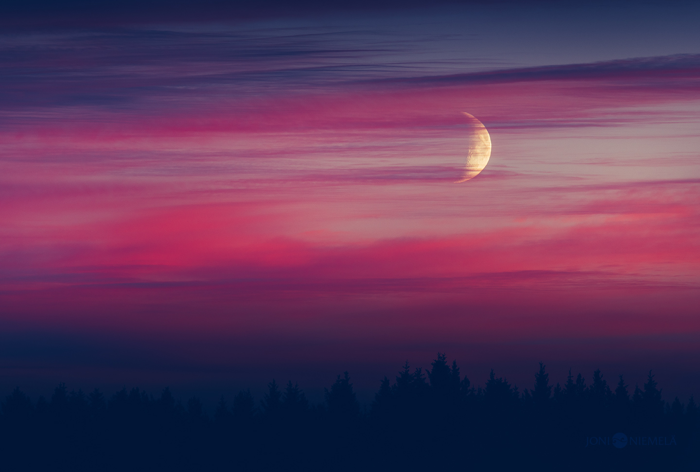 Moon And The Purple Clouds
